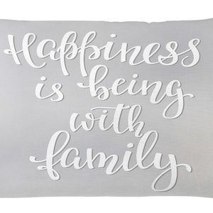 Pillow Case Family Quote Print Cover No Insert